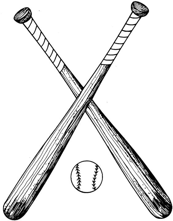 Crossed Baseball Bat Clipart | Clipart Panda - Free Clipart Images
