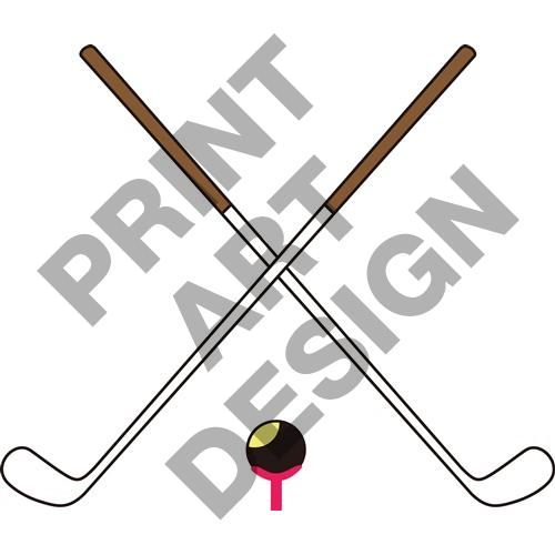 Free Clipart Of Golf Clubs