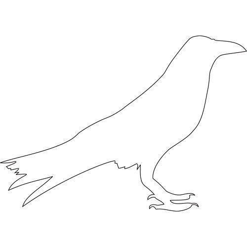 Go Back > Gallery For > Flying Crow Outline Template