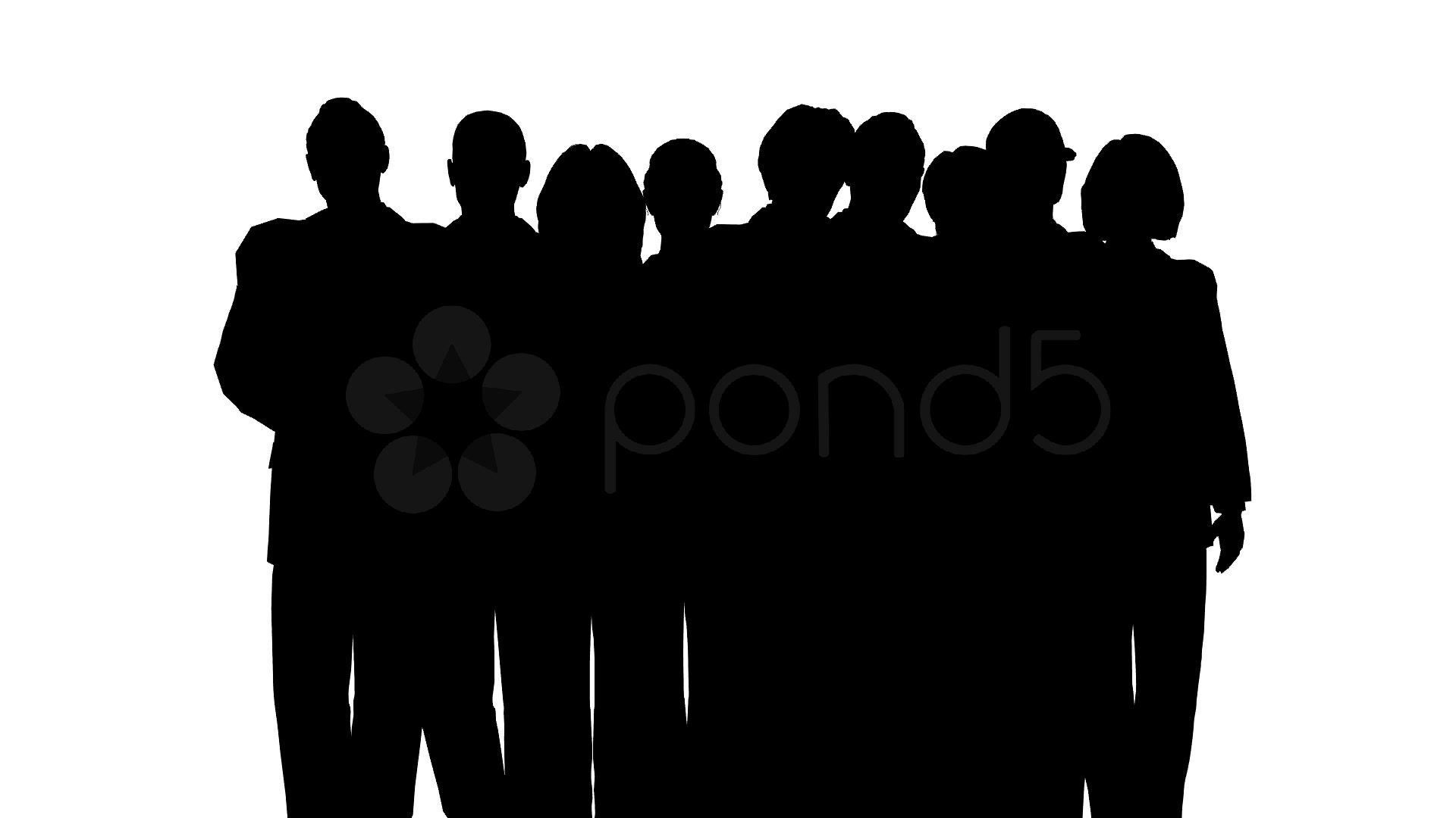 Standing crowd silhouette - photo#13