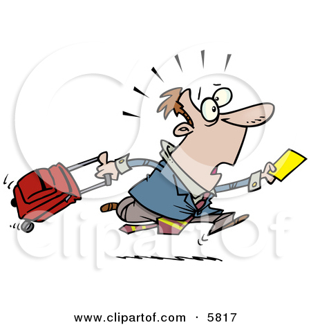 Late Traveler Man Running And Clipart Panda Free Clipart Images