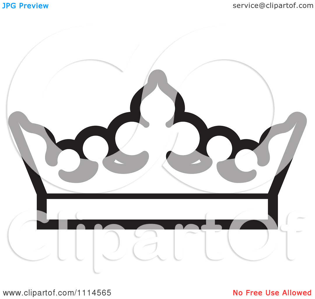 Queen Crown Clipart Bl...