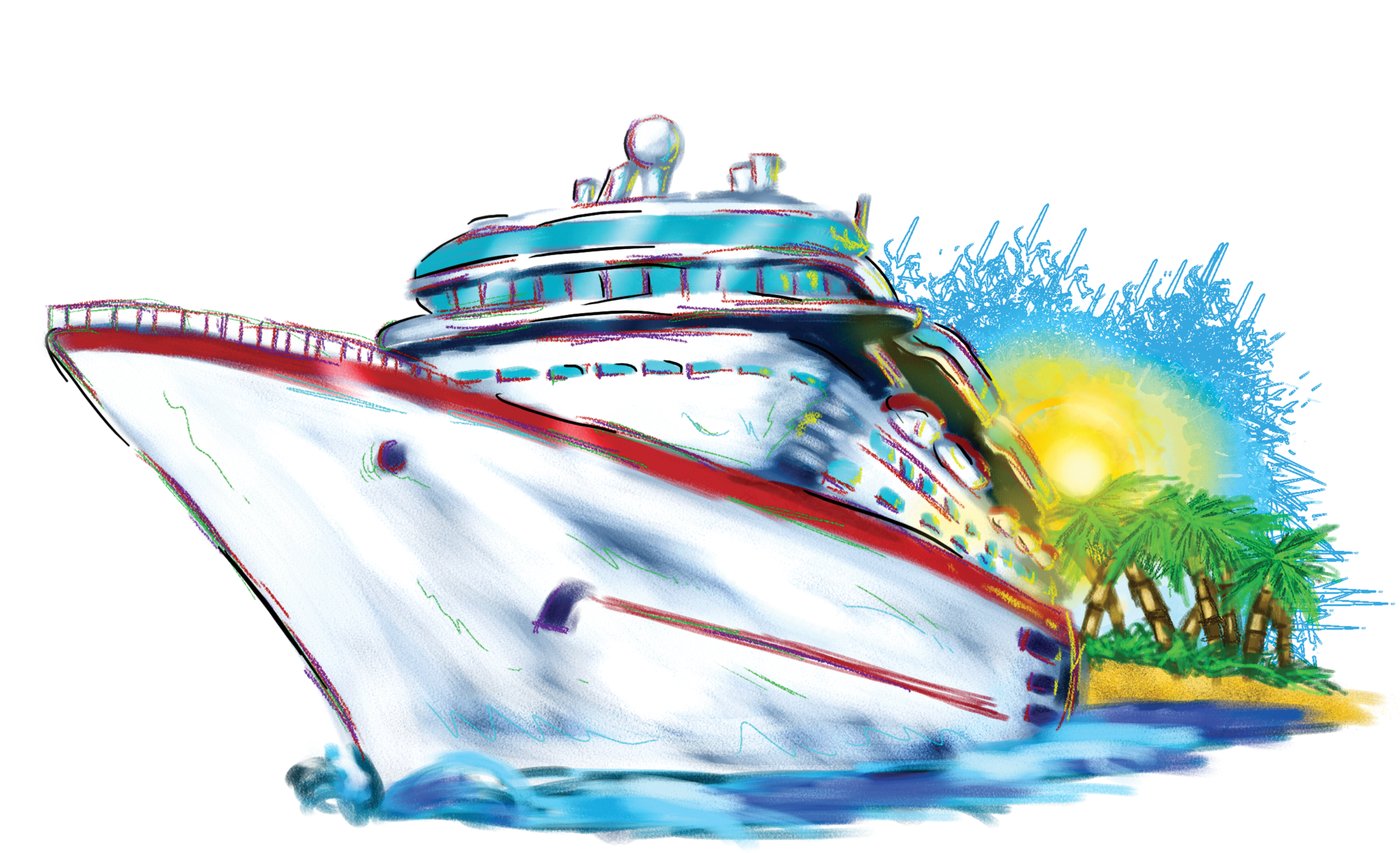 free clip art cartoon cruise ship - photo #10