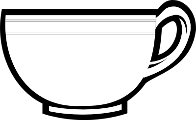 Teacup Clipart Black And White | Clipart Panda - Free Clipart Images