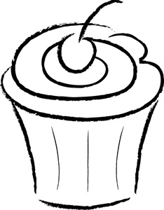 cupcake clipart black and white clipart panda free clipart images rh clipartpanda com