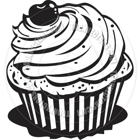 Cupcake Clipart Black And White Clipart Panda