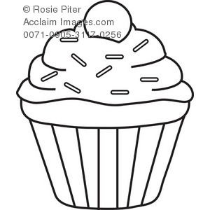 Cake Blank Clipart Black And White