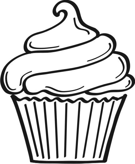 Black And White Cupcake Images : The gallery for --> Cupcake Drawing Black And White