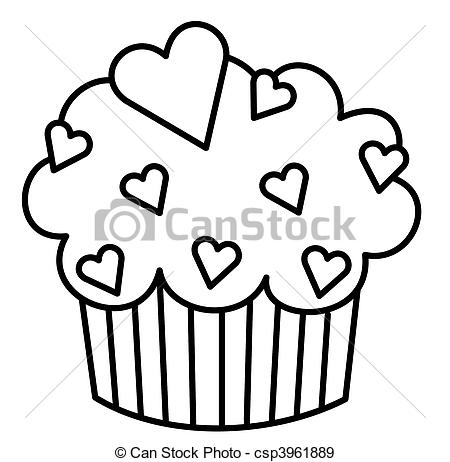 cupcakes%20clipart%20black%20and%20white