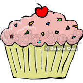 Cake With Sprinkles Clipart