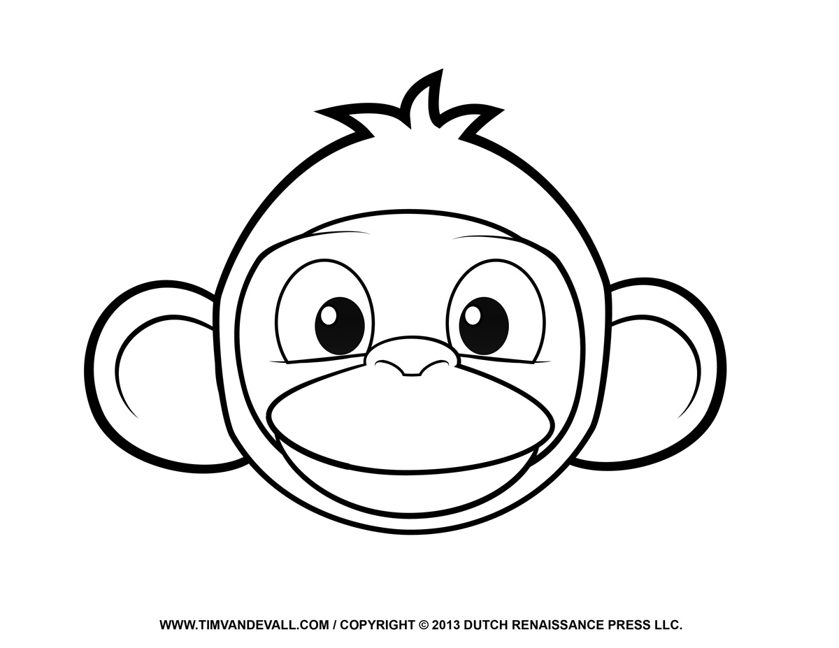 Printable Monkey Clipart Clipart