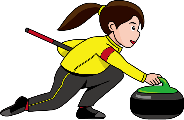 Curling Clipart