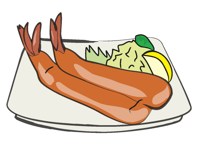 Cooked Shrimp Clip Art
