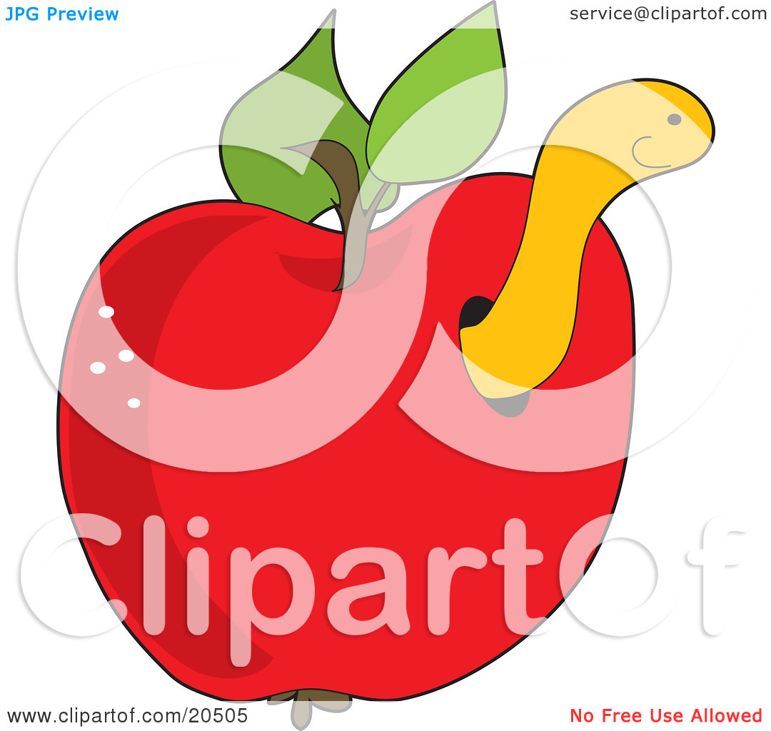 clipart apple worm - photo #32
