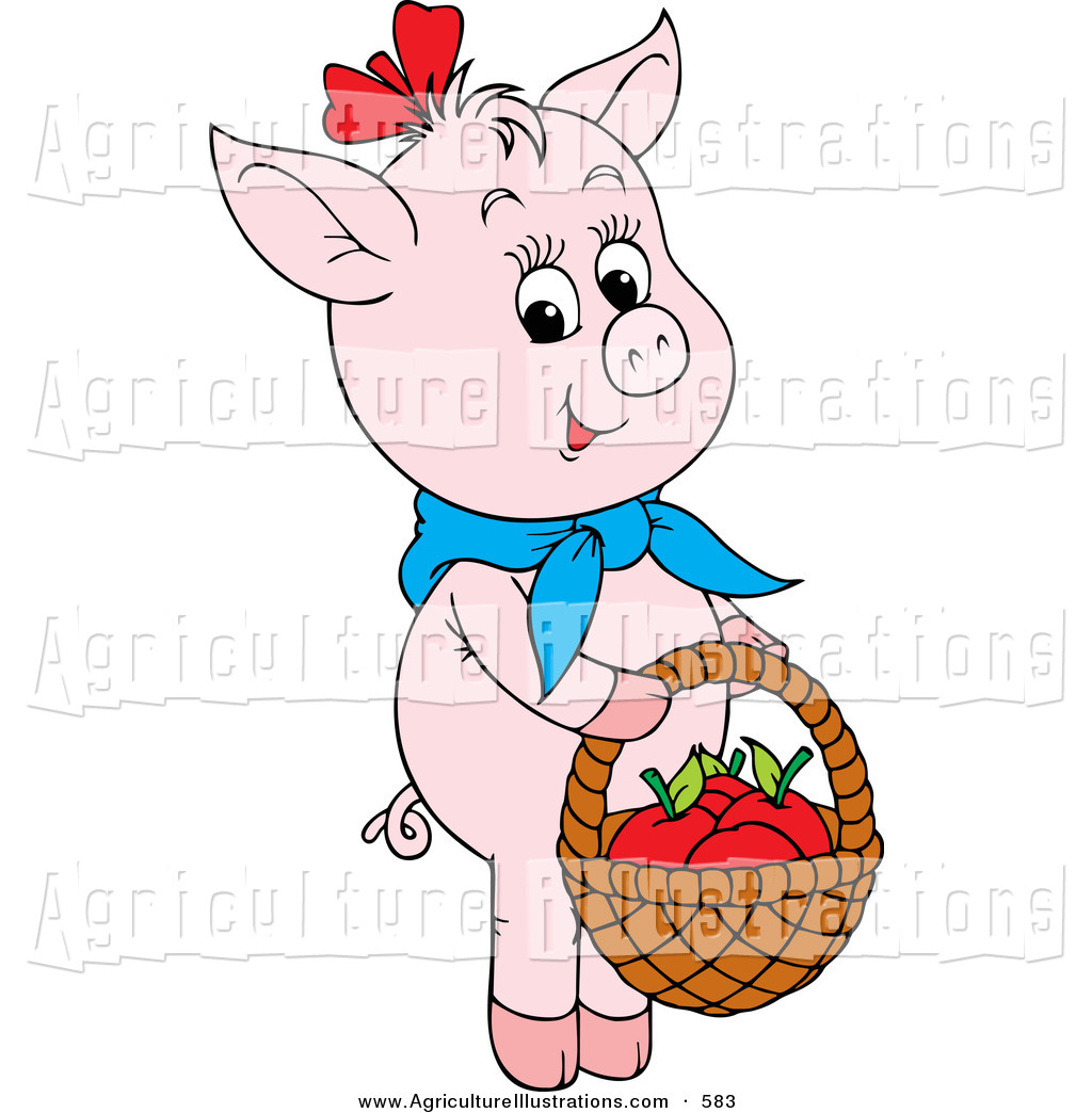 Cute Apple Basket Clipart