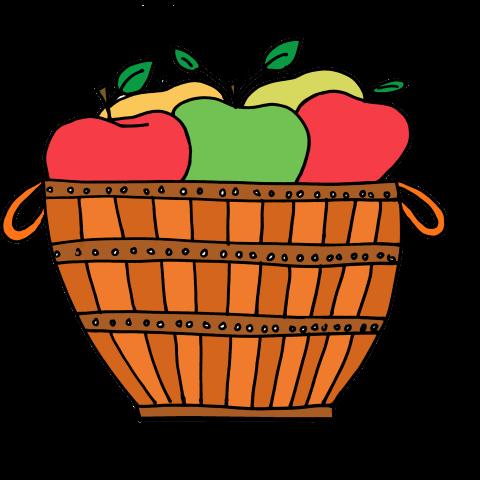 Cute Apple Basket Clipart | Clipart Panda - Free Clipart Images