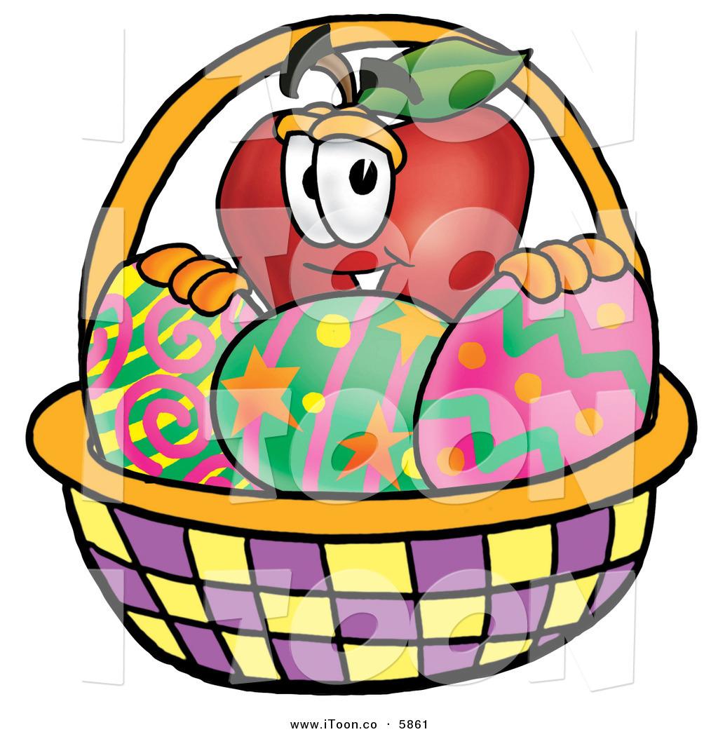 Cartoon Characters Easter Baskets : Cute apple basket clipart panda free