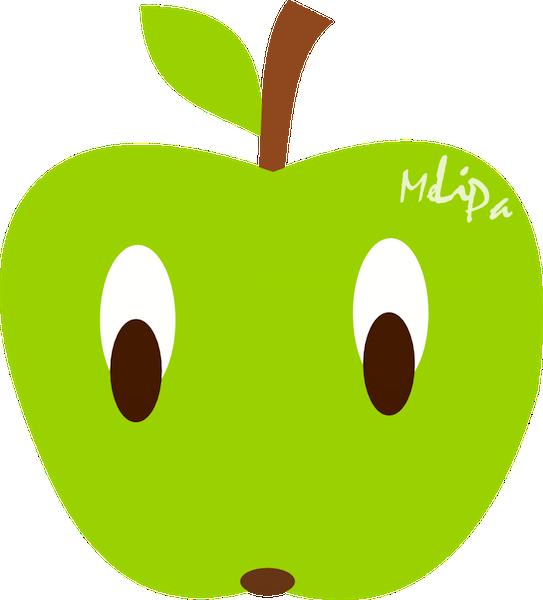 Apple kawaii. Free scrap png clipart