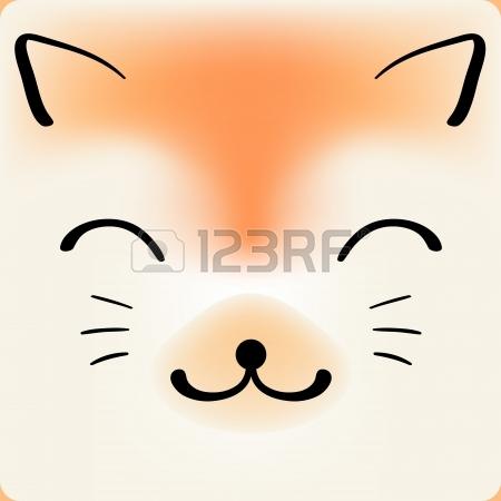 Cute cartoon fox face - photo#15