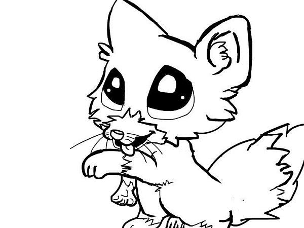 Cute Baby Fox Anime