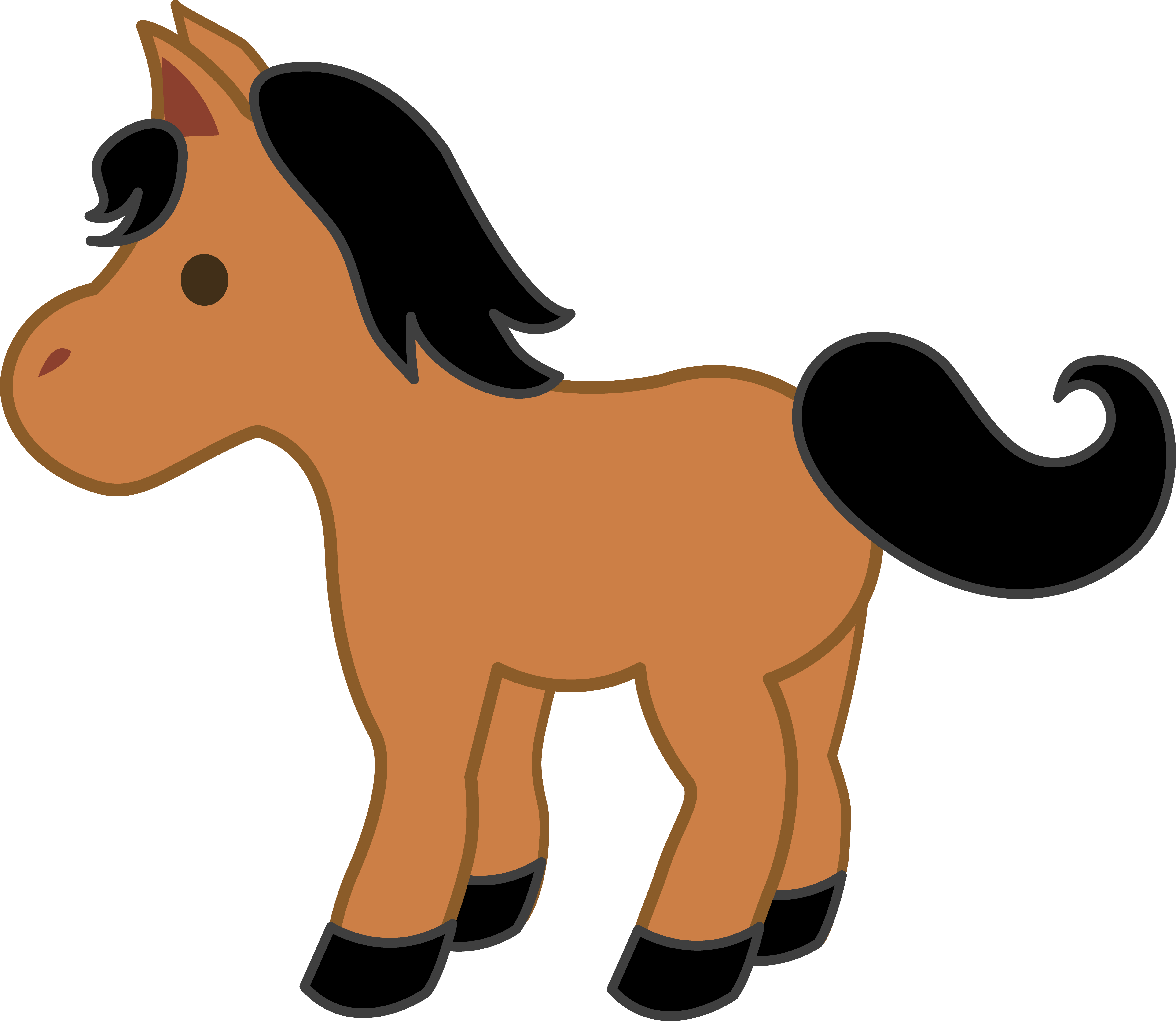 Cute Horse Clipart Black And White | Clipart Panda - Free ...