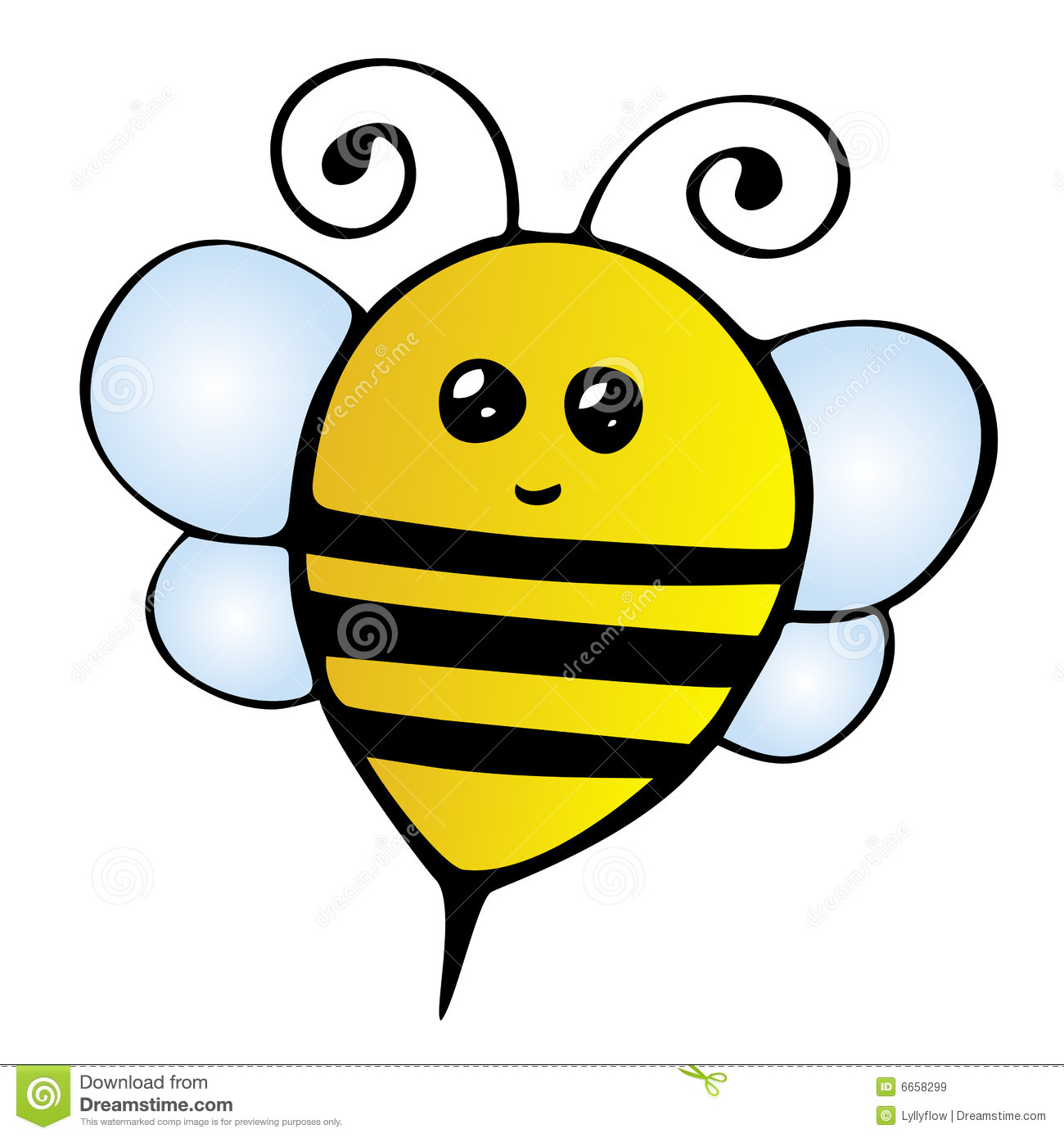 clipart cute bee-#4