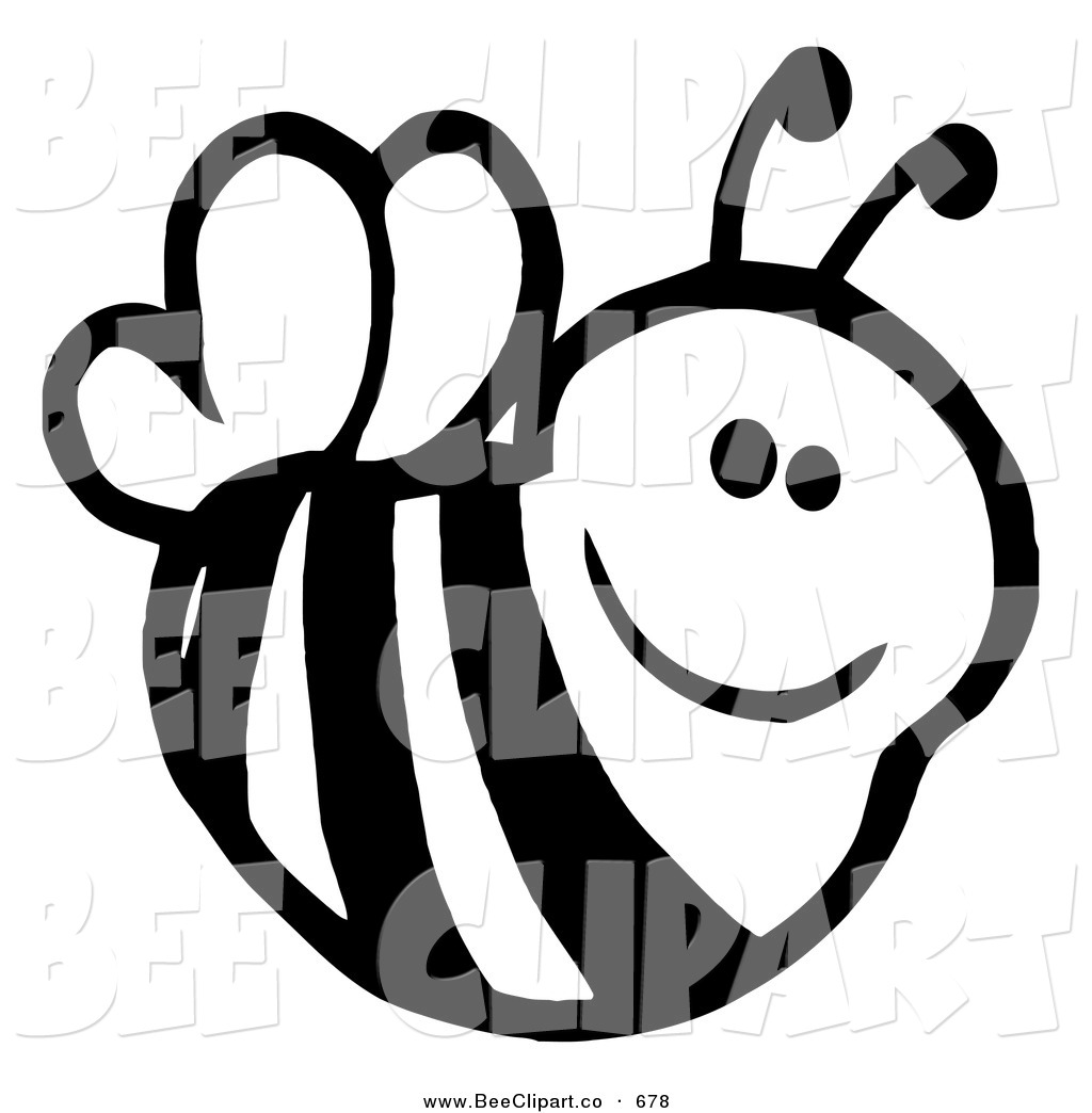 cute%20bee%20clipart%20black%20and%20white