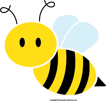 Cute Bee Clipart on Whimsical Tree Clip Art Free