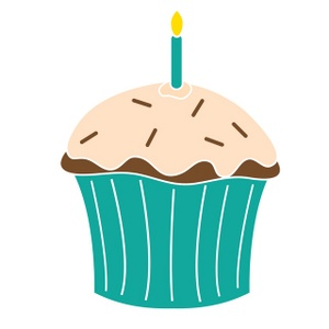 Free Birthday Cupcake Clipart
