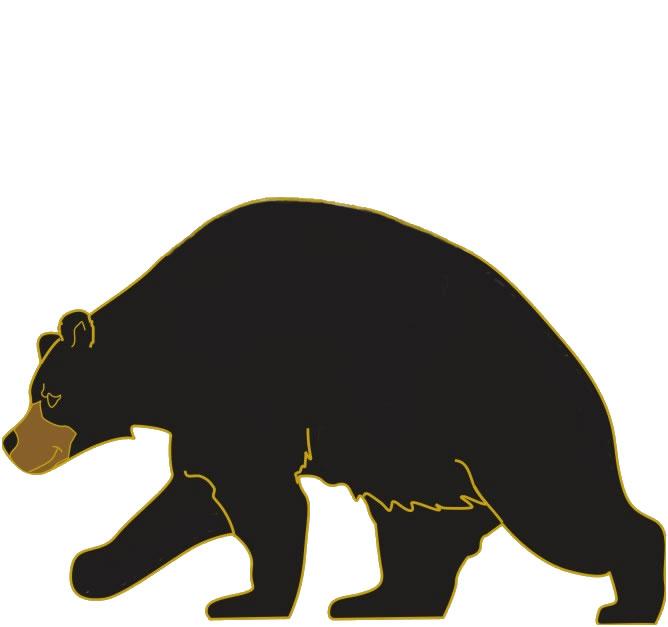 Cute black bear clipart