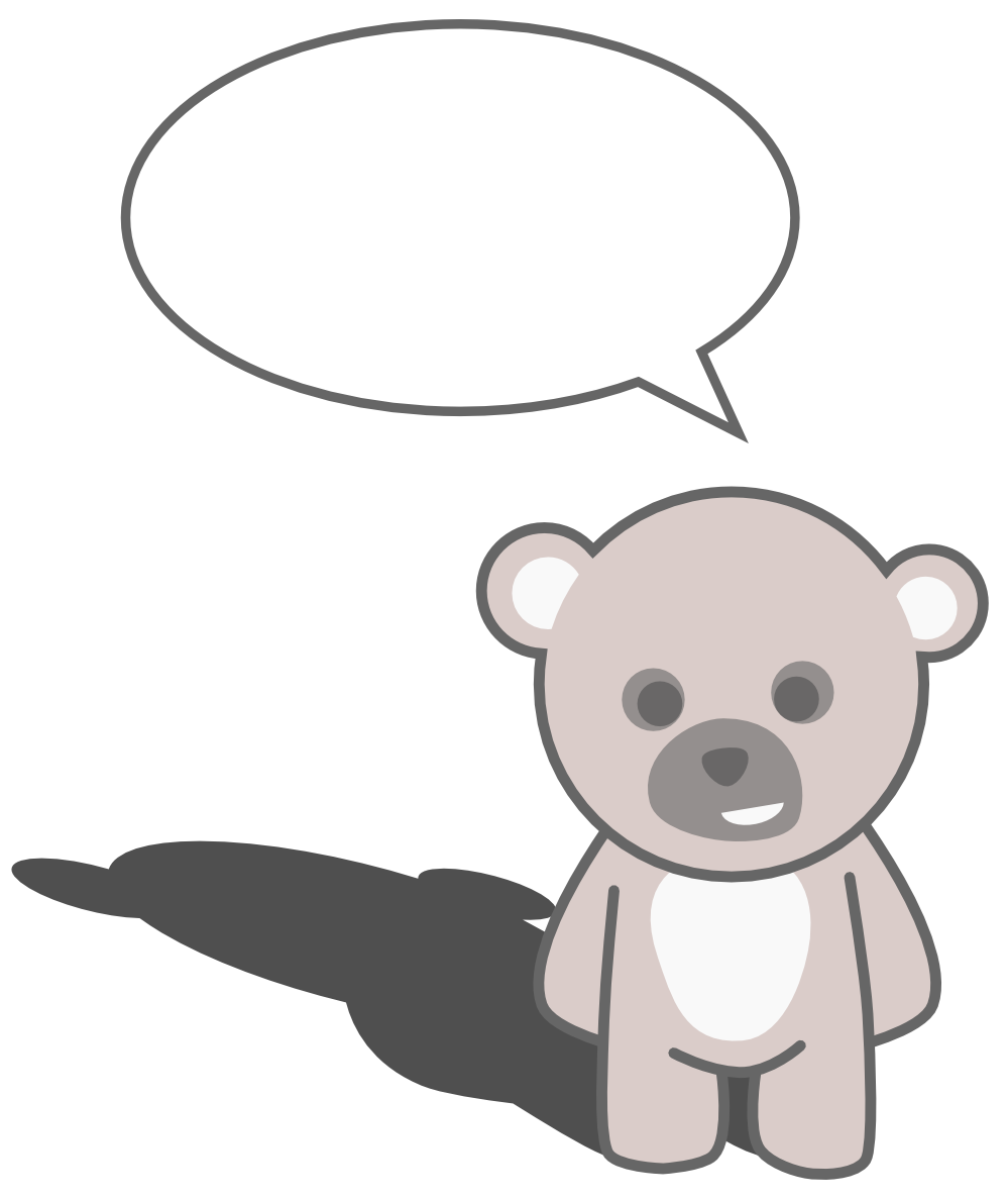 Cute Black Bear Clipart on Brown Bear