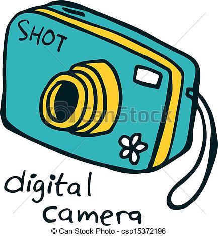 Vector - digital camera doodle   Clipart Panda - Free Clipart Images