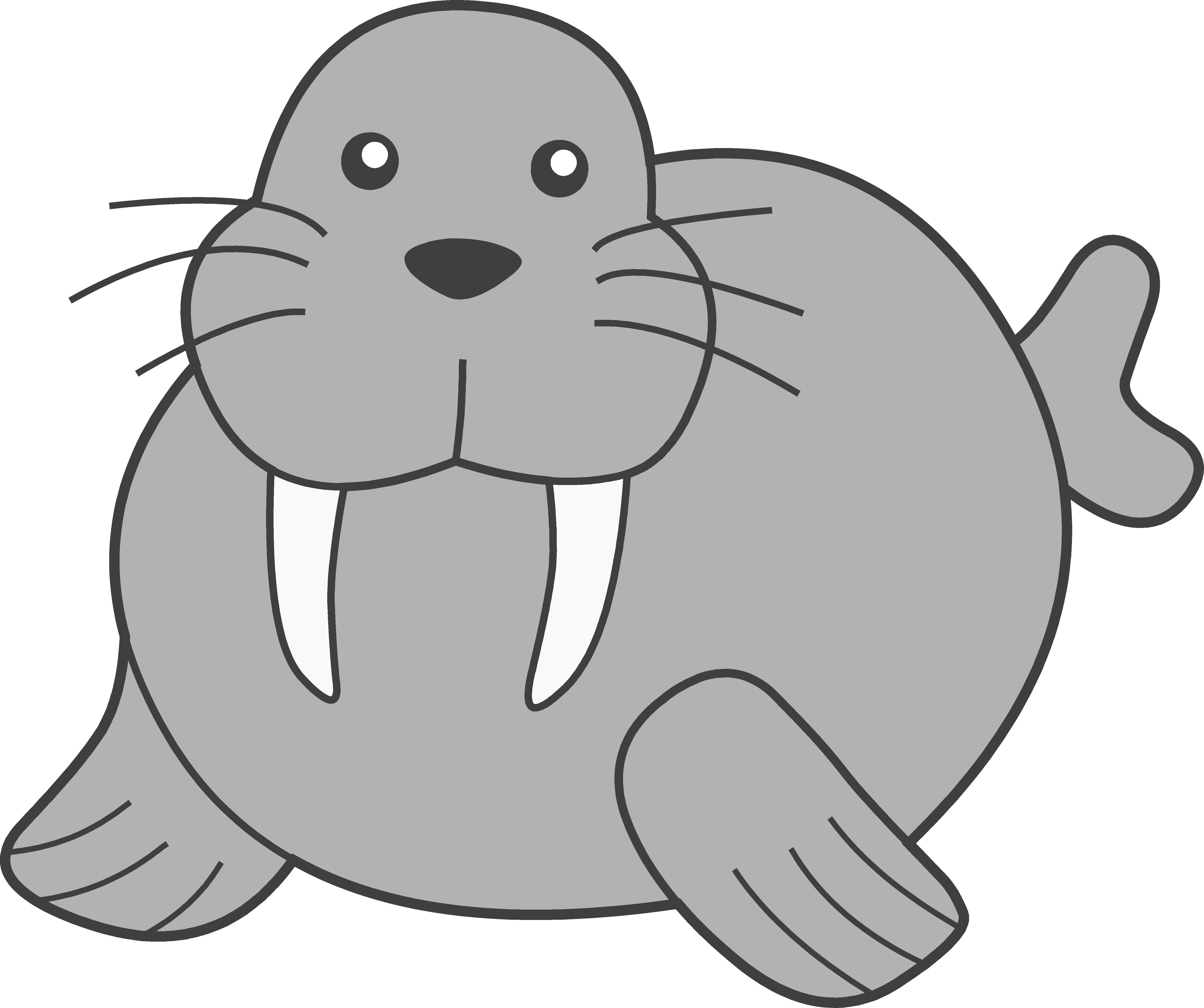 Cute Grey Walrus Clip Art | Clipart Panda - Free Clipart Images