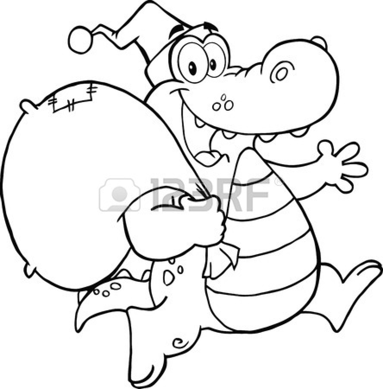 Crocodile Clipart Black And White | Clipart Panda - Free ... - photo#16