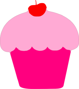 Pink Birthday Cupcakes | Clipart Panda - Free Clipart Images