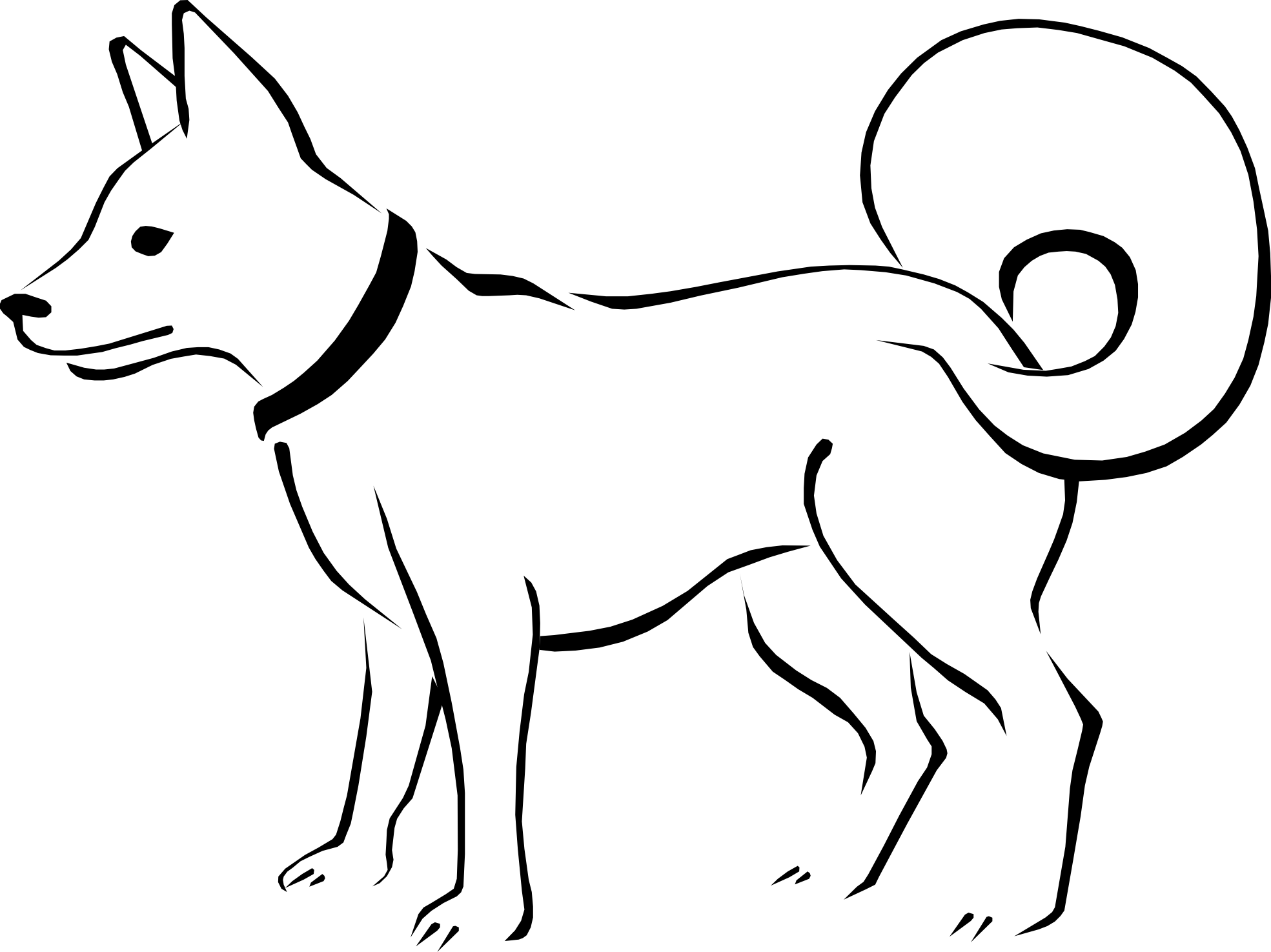 cute dog clipart black and white clipart panda free clipart images