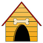 kennel for a dog clipart panda free clipart images