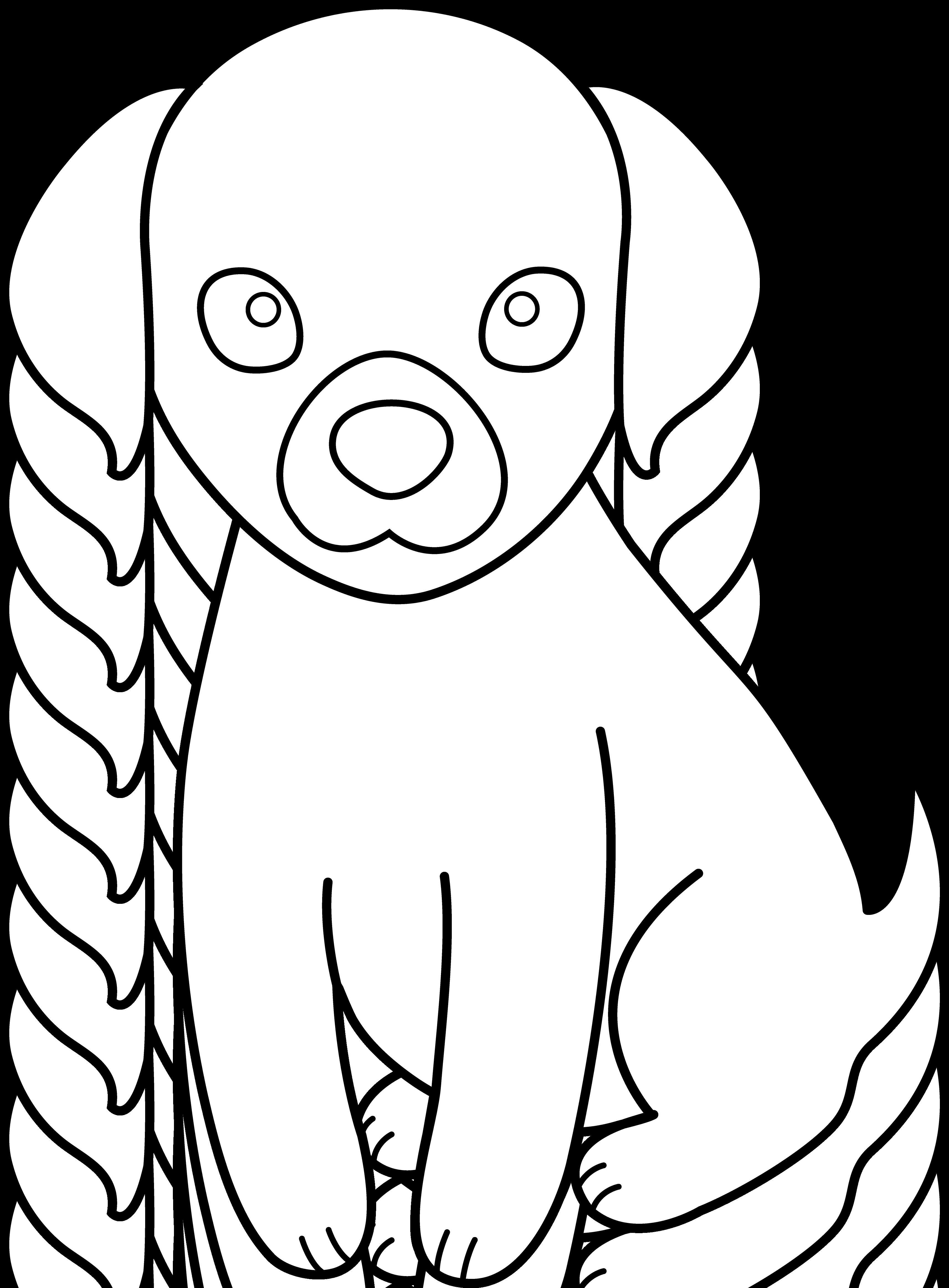 Blush Cute Dog Drawing Clipart Panda Free Clipart Images