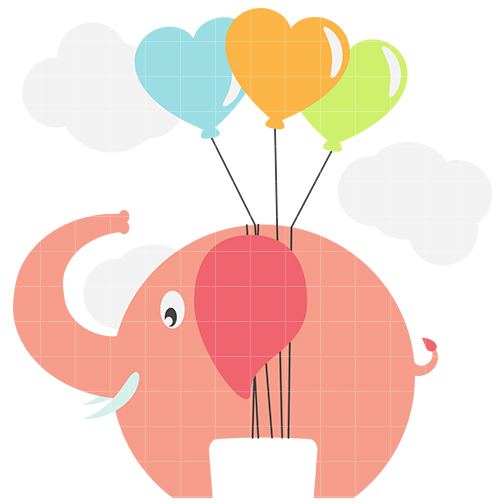 Cute elephant 4 clip art