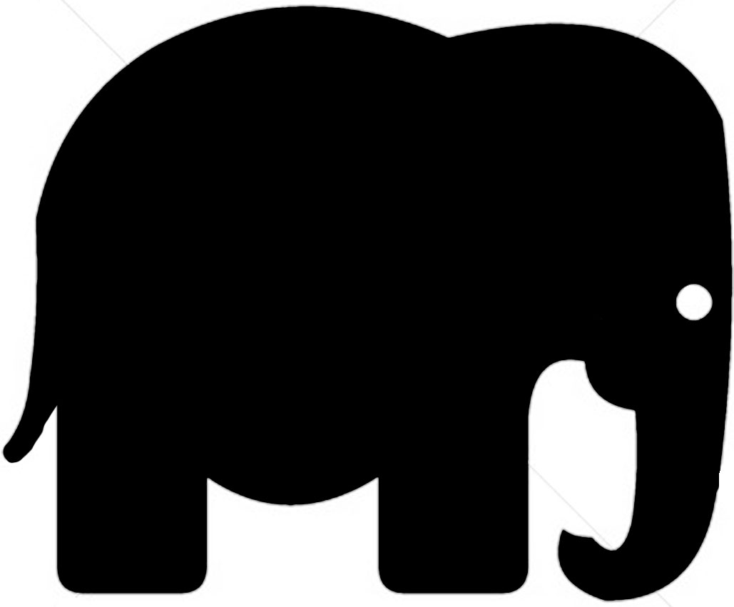 Elephant silhouette - photo#17