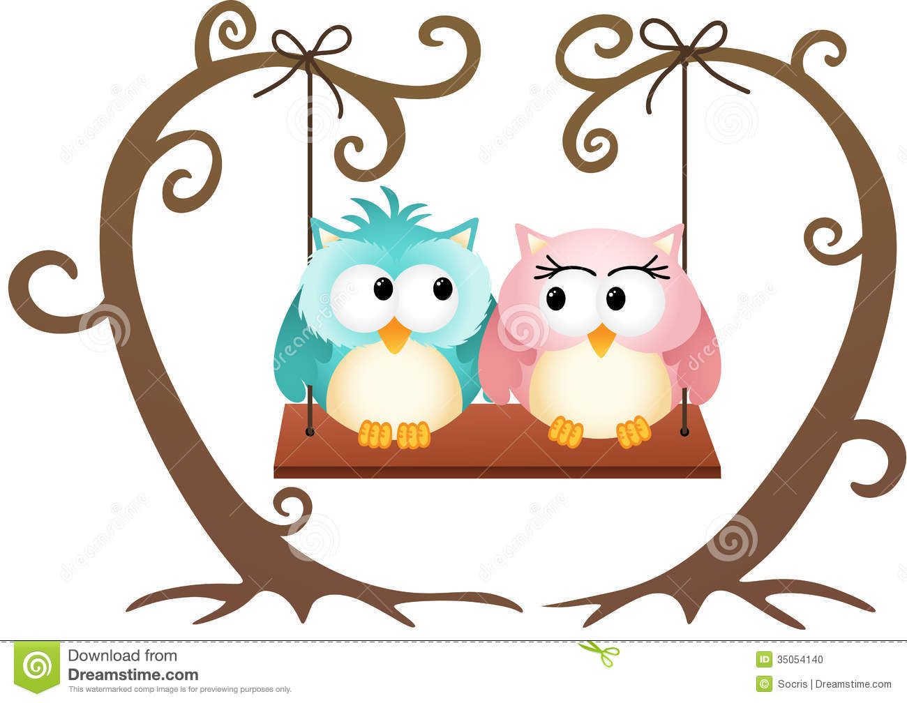 Cute owl love drawing - photo#11