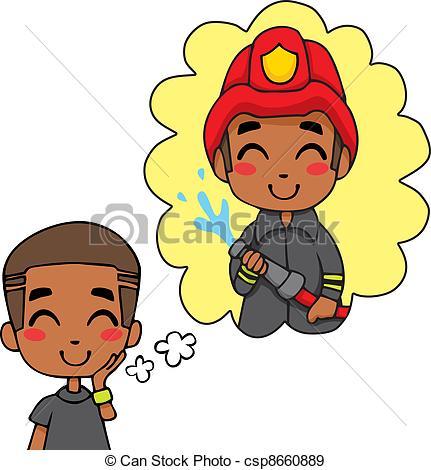 Cute Fireman Boy - csp8660889 | Clipart Panda - Free ...