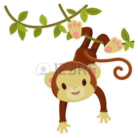 Cute cartoon monkey love - photo#28