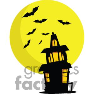 Haunted House Silhouette | Clipart Panda - Free Clipart Images