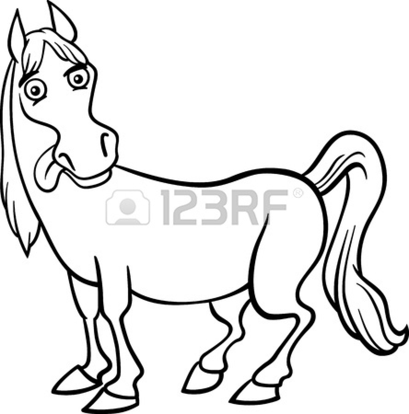 black and white horse coloring pages cute horse clipart black and white clipart panda free