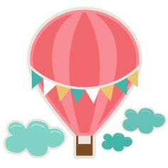 Cute hot air balloon clip art clipart panda free clipart images