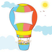 Hot Air Balloons In The Sky At Night | Clipart Panda - Free Clipart ...