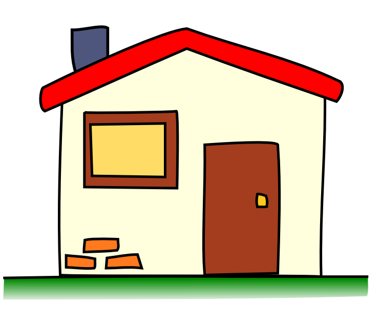 Cute house cartoon clipart panda free clipart images for Cute house images