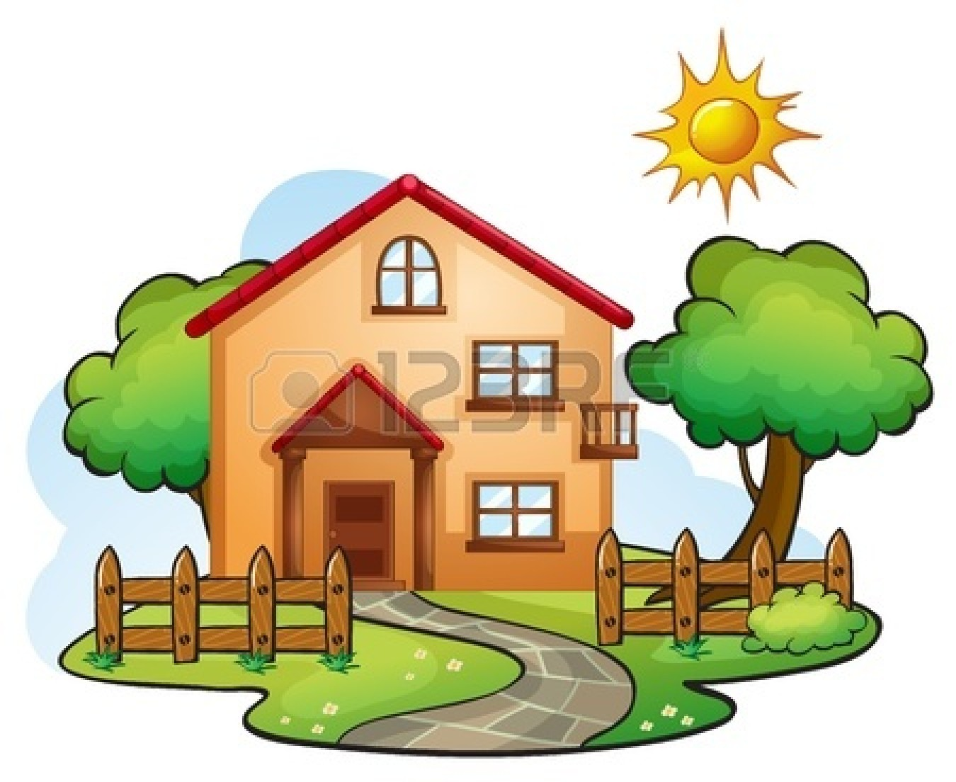 Cute house illustration clipart panda free clipart images for Pictures of home