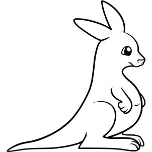 Cute Kangaroo Drawing | Clipart Panda - Free Clipart Images